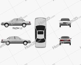 Lexus ES 1989 car clipart