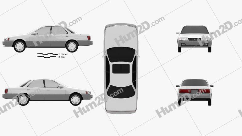 Lexus ES 1989 Clipart Bild