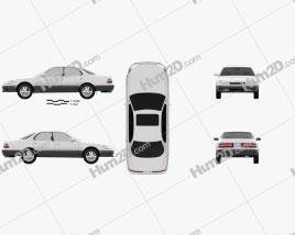 Lexus ES 1992 car clipart