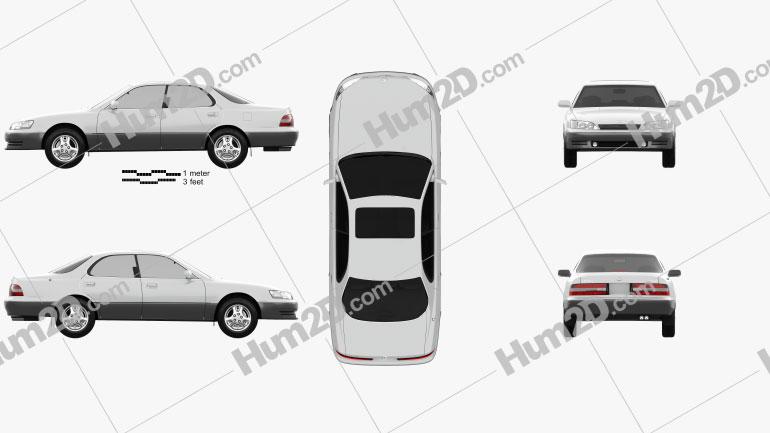 Lexus ES 1992 Clipart Image