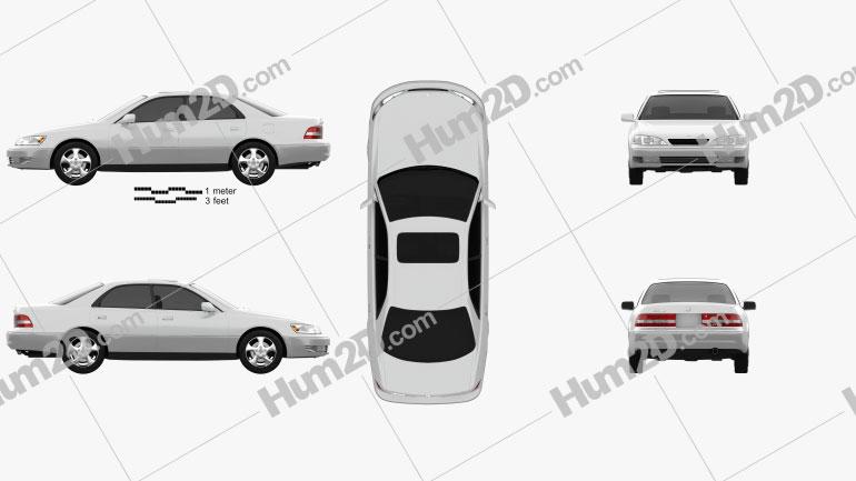 Lexus ES 1997 Clipart Image