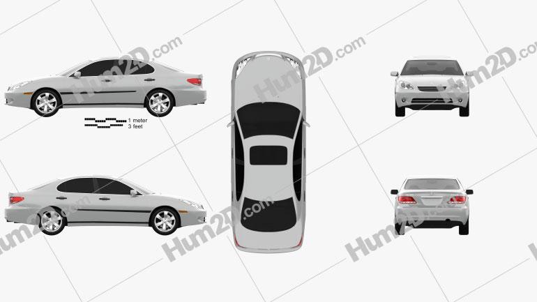 Lexus ES 2004 Clipart Image