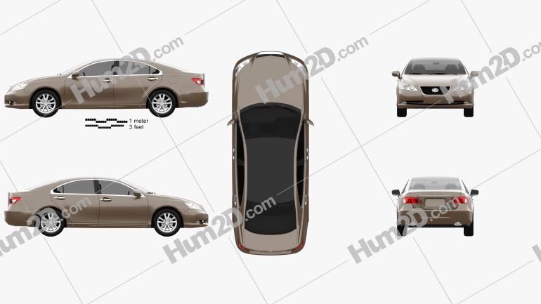 Lexus ES 2009 Clipart Image