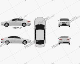 Lexus ES 2013 car clipart