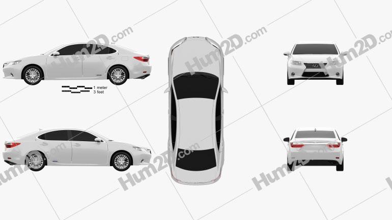 Lexus ES 2013 Clipart Image