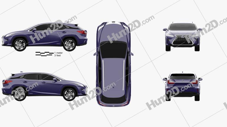 Lexus RX hybrid 2016 car clipart