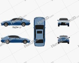Lexus GS F 2015 car clipart