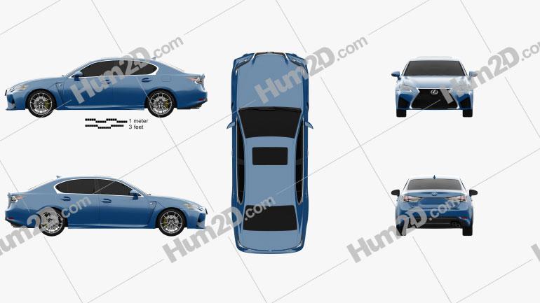 Lexus GS F 2015 Clipart Bild