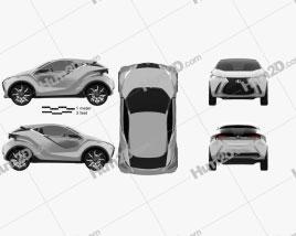 Lexus LF SA 2015 car clipart