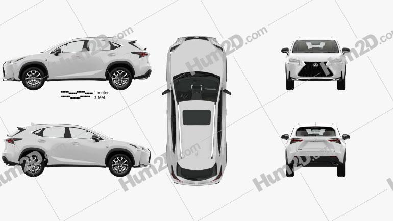 Lexus NX F sport with HQ interior 2014 car clipart