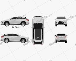 Lexus RX F Sport 2016 car clipart