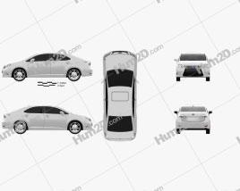 Lexus HS 2014 car clipart