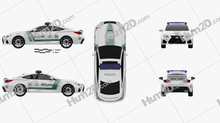 Lexus RC F Police Dubai 2015 car clipart