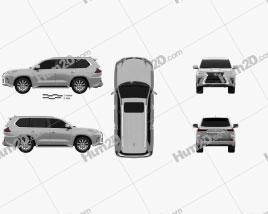 Lexus LX 2016 car clipart