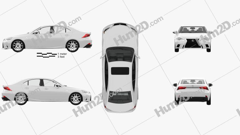 Lexus IS (XE30) F Sport mit HD Innenraum 2013 car clipart