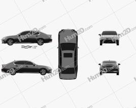 Lexus GS Hybrid 2015 car clipart