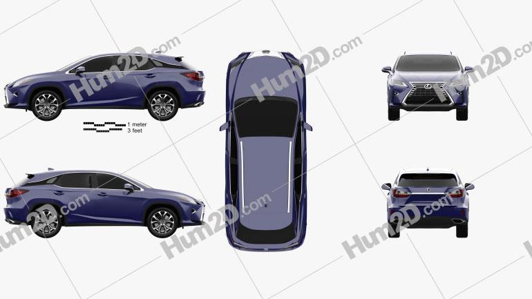 Lexus RX 200t 2016 car clipart