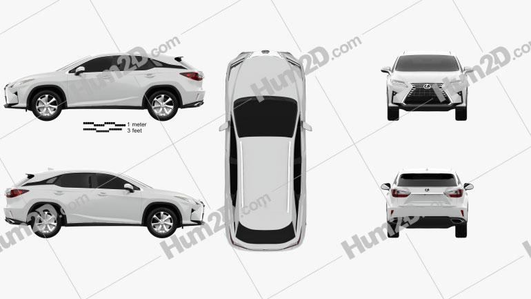 Lexus RX 350 2016 car clipart