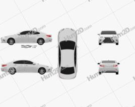 Lexus ES Hybrid 2015 car clipart