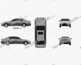 Lexus GS 2015 car clipart