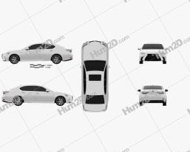 Lexus GS F Sport 2015 car clipart
