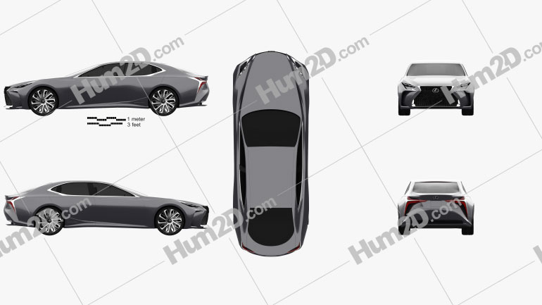 Lexus LF-FC 2015 car clipart
