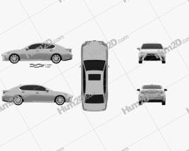 Lexus GS 350 2015 car clipart