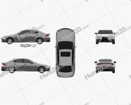Lexus IS (XE30) 200t F Sport 2017 car clipart
