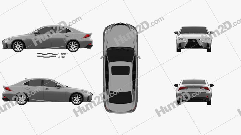 Lexus IS (XE30) 200t F Sport 2017 Clipart Image