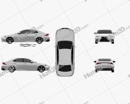Lexus IS (XE30) 350 2016 car clipart