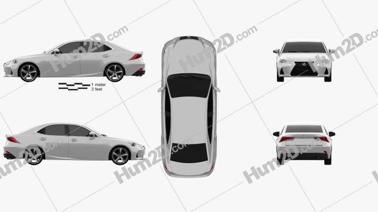 Lexus IS (XE30) 350 2016 Clipart Image