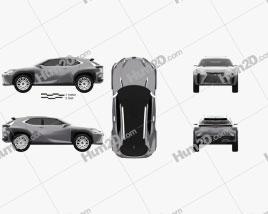 Lexus UX concept 2016 car clipart