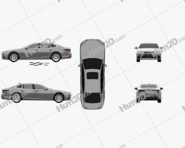 Lexus LS 2017 car clipart