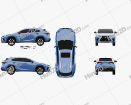 Lexus NX F sport 2017 car clipart