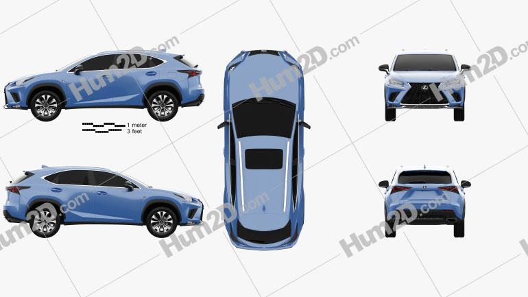 Lexus NX F sport 2017 Clipart Image
