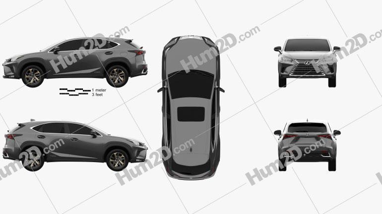 Lexus NX hybrid 2017 car clipart