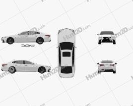 Lexus LS (XF50) F Sport 2018 Clipart