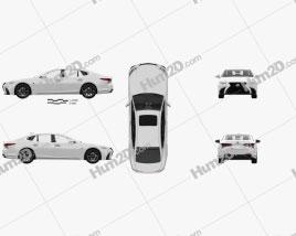 Lexus LS (XF50) F Sport with HQ interior 2018 car clipart