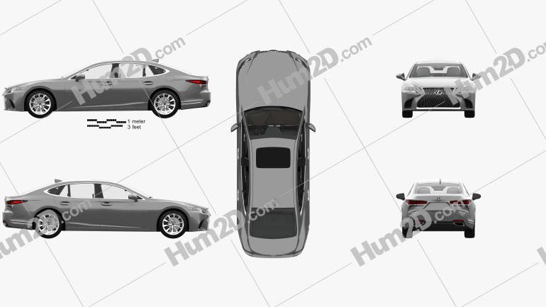 Lexus LS (XF50) mit HD Innenraum 2017 car clipart