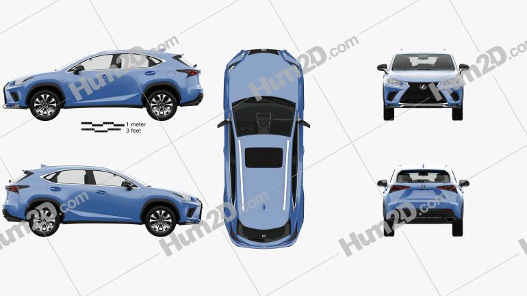 Lexus NX F sport with HQ interior 2017 car clipart