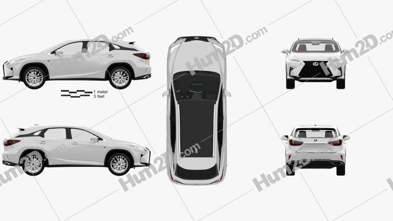 Lexus RX F sport com interior HQ 2016 car clipart