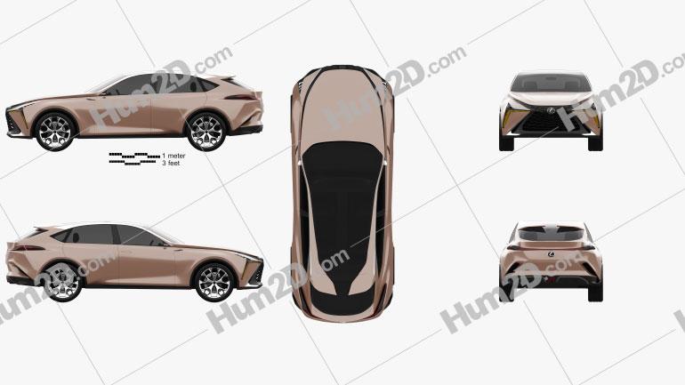 Lexus LF-1 Limitless 2018 car clipart
