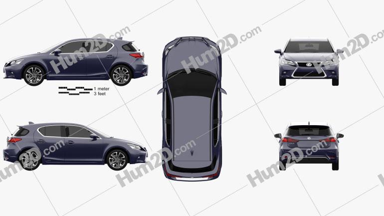 Lexus CT Hybrid Prestige 2018 car clipart