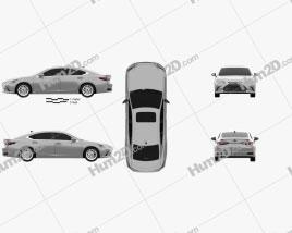 Lexus ES 300h 2019 car clipart