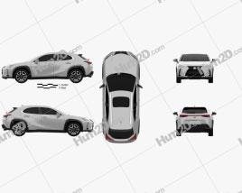 Lexus UX 2018 car clipart