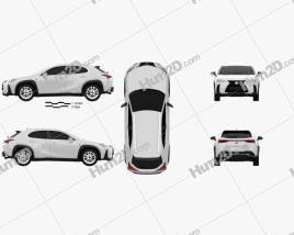 Lexus UX hybrid F-Sport 2018 car clipart