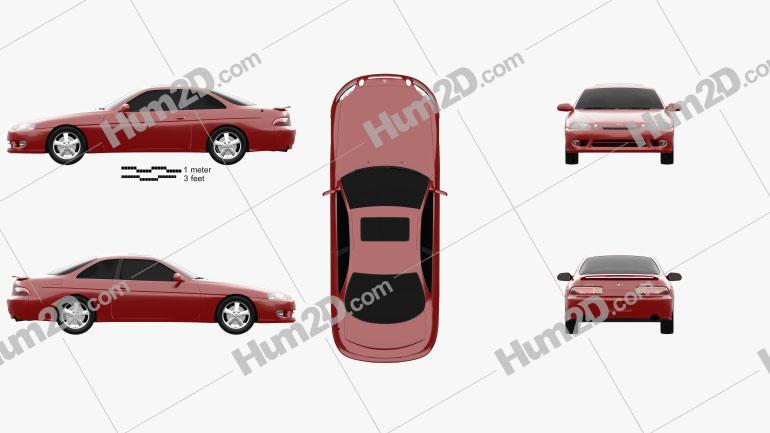 Lexus SC (Z30) 1998 Clipart Bild