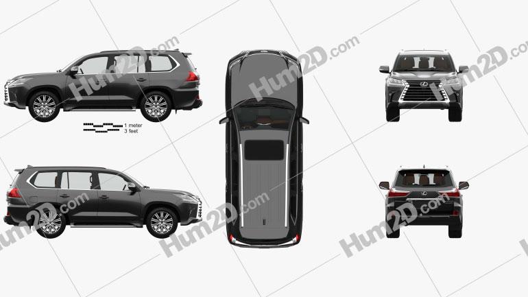 Lexus LX with HQ interior 2016 car clipart