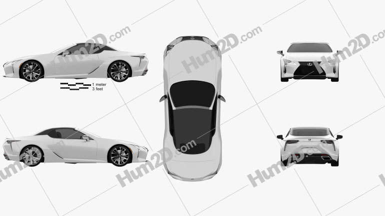 Lexus LC convertible 2019 car clipart