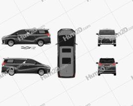Lexus LM hybrid 2019 clipart